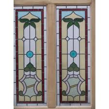 victorian glass door panels sd035 victorian edwardian original 4 panel stained glass