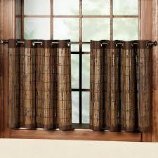 bay window kitchen curtains and window treatment valance ideas