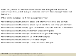 It Risk Management Resume Top 10 It Risk Manager Interview Questions And Answers