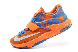 on sale nike kd 7 vii custom team orange photo blue white for