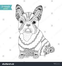 french bulldog dog zentangle stylized vector stock vector