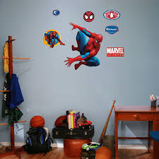 glamorous 60 fathead wall art inspiration of how to create custom fathead wall art fathead spiderman wall art available at www wallpops poptalk