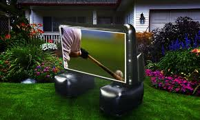 Backyard Projector Screen by 6 U0027 Inflatable Projector Screen Groupon Goods