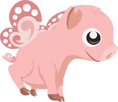 truly free clipart of a cute flying pink baby pig royalty free