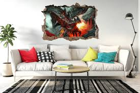 dragon fire fantasy apocalypse window poster 3d wall sticker vinyl dragon fire fantasy apocalypse window poster 3d wall