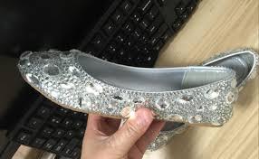 rhinestone women flat shoes clean gems stones sparkly crystal