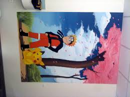 decoration usa pour chambre décor chambre enfant peinture chambre ado fresque chambre