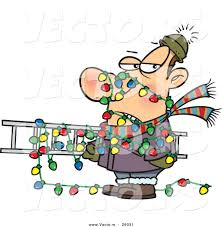 Outdoor Christmas Light Safety - animated yard safety clipart clipart collection cartoon blue