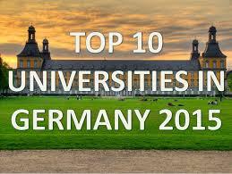 top 10 best universities in germany 2015 top 10 universidades de