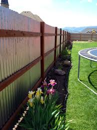 great corrugated metal fence as wells as images about privacy