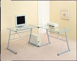 Computer Desk In Black Black Glass Desk For Desktop Computer And Laptop Finding Desk In