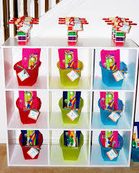 Rainbow Themed Birthday Favors by Picasso Each Child Has A With The Day S Supplies