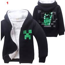 Minecraft Costume Kids Boys Halloween Minecraft Costume Black Sweatshirt Clothes