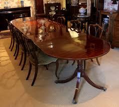 Solid Mahogany Dining Table Antiques Atlas 12 U0027 Mahogany Dining Table