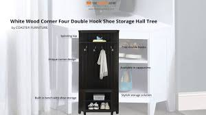 corner hall tree with shoe storage for entrance in any room