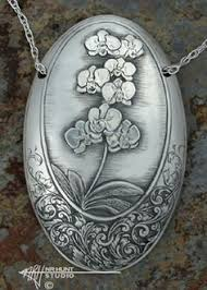 Custom Silver Pendants Hand Engraved Pendant