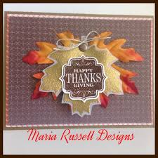 fall thanksgiving card stin up