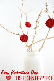 Valentine S Day Tree Decor by Easy Valentine U0027s Day Tree Centerpiece Simply Being Mommy