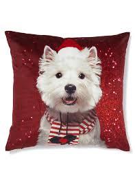 westie christmas cushion m u0026s