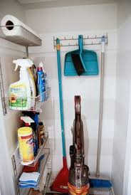 Cleaning Closet Ideas Maybe This Configuration Would Work For The Kitchen Pantry Broom