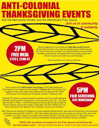 anti colonial thanksgiving events minnehaha free space