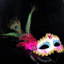 pink mardi gras mask mask peacock feather masquerade mardi gras mask