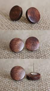 wood stud earrings wood earrings simple wooden stud earrings brown wood