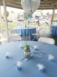 Baby Shower Centerpieces For Boy by Finished Mason Jar Centerpiece For Boy Baby Shower My Diys