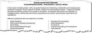 Marketing Director Resume Summary How To Write A Killer Marketing Resume Target Marketing