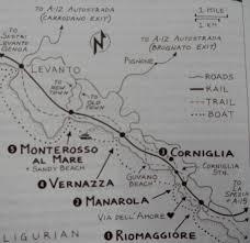 Cinque Terre Italy Map Map Of Cinque Terre Rick Steves Italy Tami Clayton