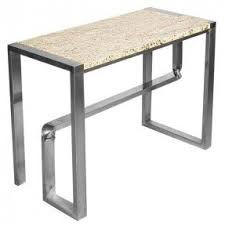 Steel Console Table Console Table With Marble Top Foter