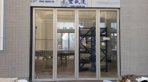 folding glass partition wall interior door for banquet hall loversiq