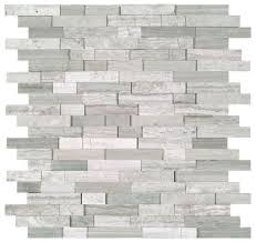 Marble Mosaic Backsplash Tile by White Oak Silver Cream Splitface Marble Mosaic Tile Basement