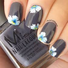 nail art ideas with different shapes of flowers trendy mods com