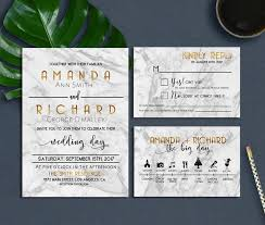 Blank Wedding Invitation Kits Marble Wedding Invitation Modern Marble Wedding Invitation