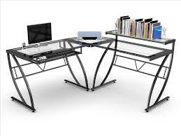 Z Line Belaire Glass L Shaped Computer Desk Z Line Belaire Glass L Shaped Computer Desk Best Desk Design