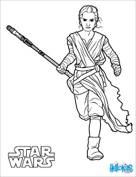 rey the force awakens coloring pages hellokids com