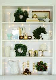 bookshelf decorations natural wreath for christmas bookcase 2013 christmas wreath decor