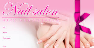 nail salon gift cards nail gift certificate template free 5 professional and high