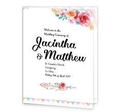 Wedding Booklet Templates Mass Booklet Covers Loving Invitations