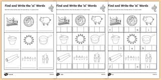find and write the oi words differentiated activity sheet pack