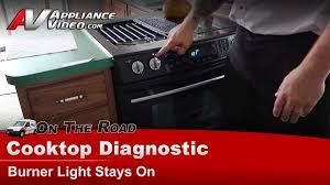 Jennair Electric Cooktop Jenn Air Jes9750bab17 Cooktop Diagnostic U2013 Burner Light Stays On