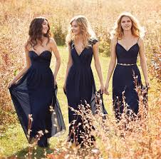 navy bridesmaid dresses navy lace and chiffon two a line bridesmaid dress with