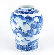 Chinese Blue And White Vase 19th Century Kangxi Mark Chinese Blue And White Porcelain Vase Ebth