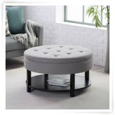 coffee table round coffee table with ottomans storage overstock