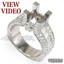 diamond mounting rings images Anzor jewelry wide semi mount diamond engagement ring pave jpg