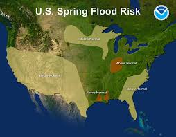 Flood Plain Map Noaa Risk Of Major Flooding In Spring Is Low For The First Time