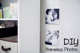 frameless pictures diy frameless photo art