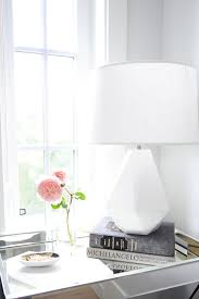White Nightstand Lamps Mirrored Nightstand Design Ideas