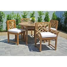 Sunbrella Outdoor Patio Furniture 5pc Monterey Teak Outdoor Patio Furniture Dining Set With 48